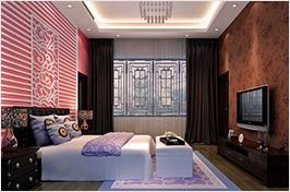 多色中式卧室设计
